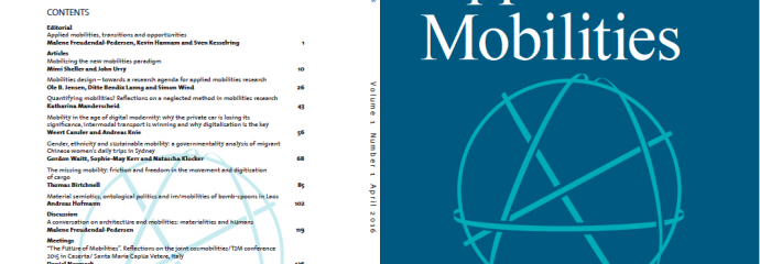 New journal out: Applied Mobilities