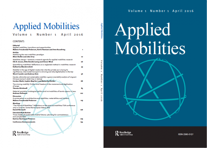 First issue of Applied Mobilities