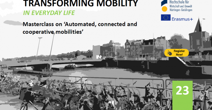 """TRANSFORMING MOBILITY IN EVERYDAY LIFE – MASTERCLASS ON """"AUTOMATED, CONNECTED AND COOPERATIVE MOBILITIES"""""""